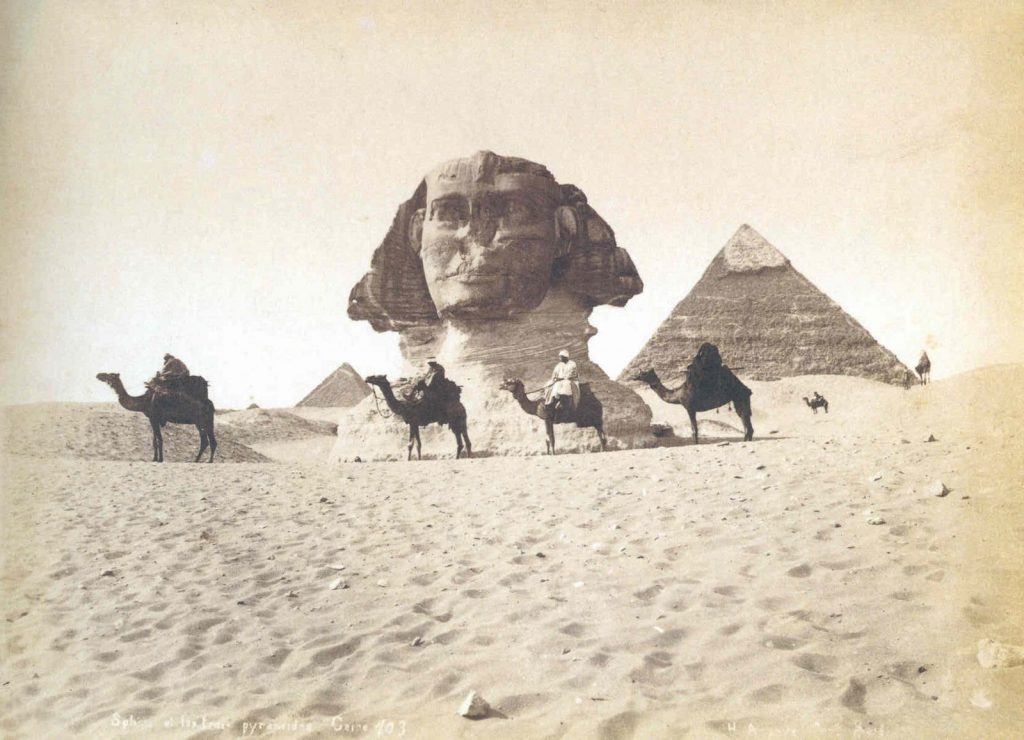 Maxime Du Camp's photograph of the Sphinx in 1849