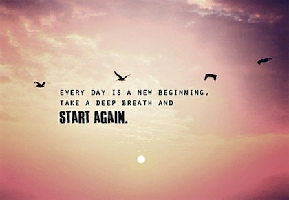 Marvelous Start Again New Beginning Picture Quote Awesome Design
