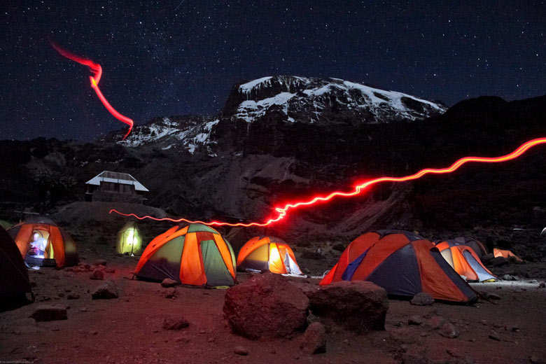 Mount Kilimanjaro at Night (Trevor Booth/National Geographic Traveler Photo Contest)