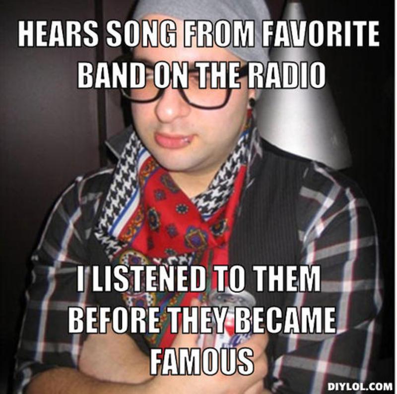 sad hipster  Meme Generator