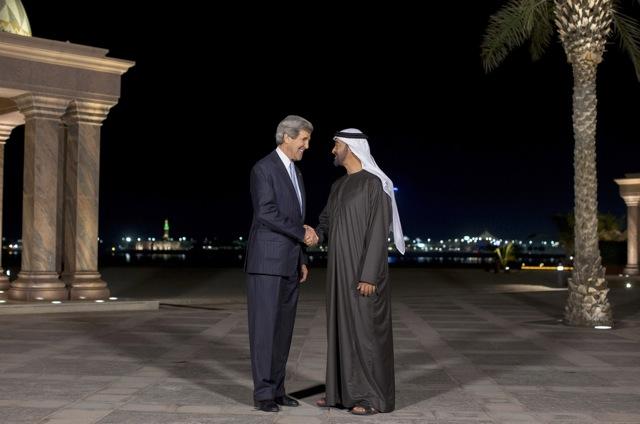 US Secretary of State John Kerry in Abu Dhabi
