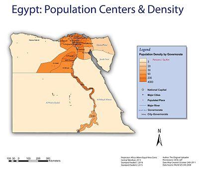 egyptpopulationcenters
