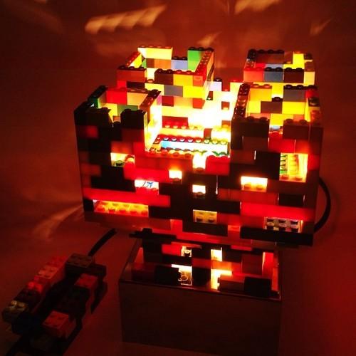 Diy 20 lampshades that will light up your life diy lego lampshade tumblrn9qklbqcgu1rqokozo1500 aloadofball Images