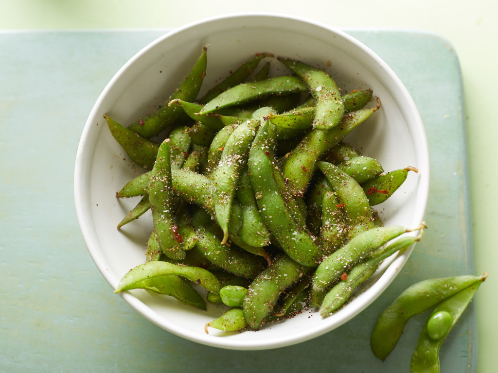Food Network Kitchen's Spiced Edamame as seen on Food Network
