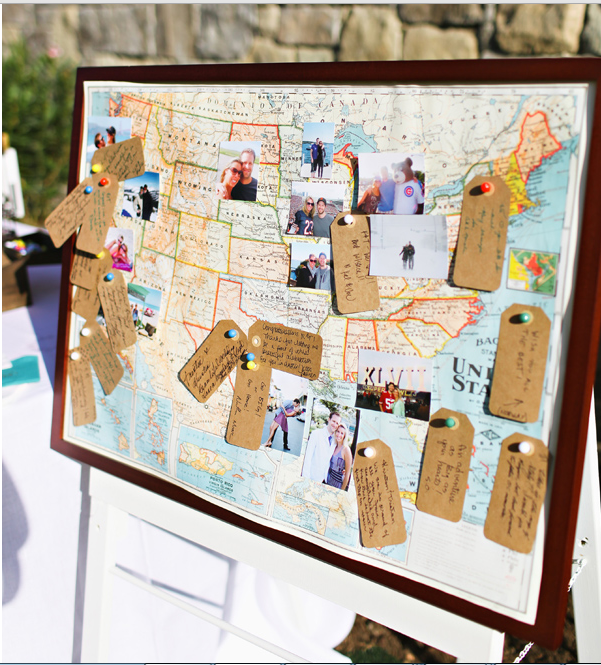 Diy 15 creative guest book ideas for your wedding world map guest book goldmintstyledloftshoot2013 120 map gumiabroncs Image collections
