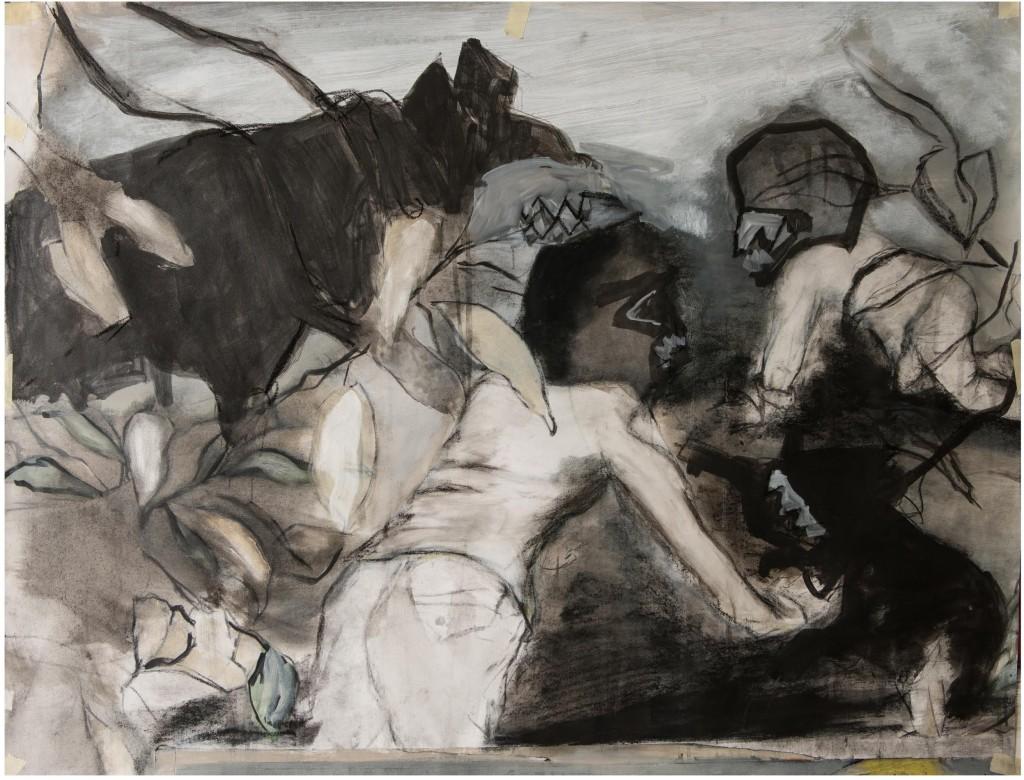 Tamara Al-Samerai, 'Mask', 2015, Acrylic on Canvas, 76 x 99 cm.