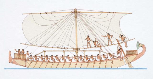древний египет картинки лодка