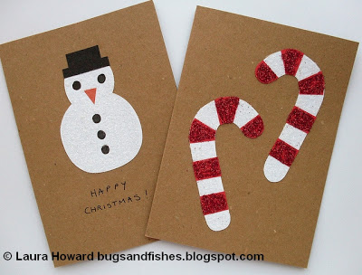 glitter christmas cards 1w