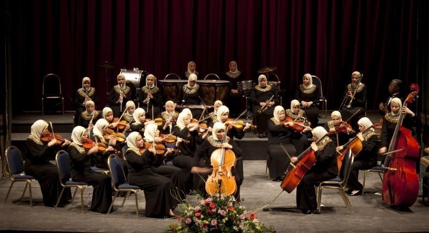 Αποτέλεσμα εικόνας για Al Nour Wal Amal, Egypt's blind women orchestra: