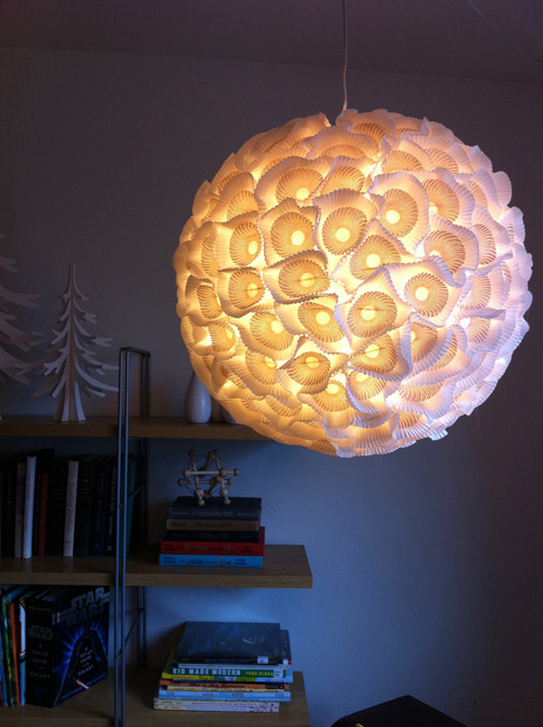 Diy funky chandeliers made out of weird objects cup cake liners chandelier dsdiypaperchandelierlit aloadofball Choice Image