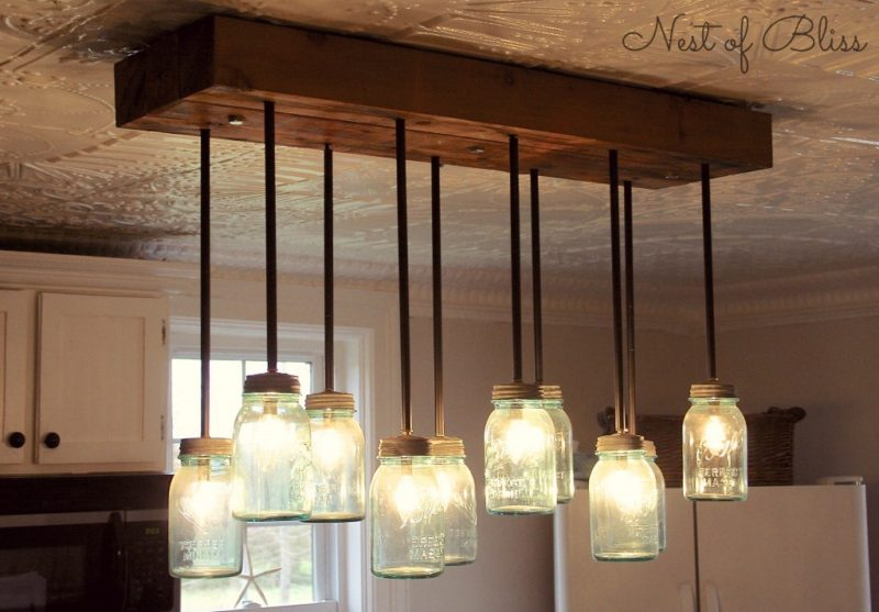 Homemade chandelier with mason jars chandelier designs diy funky chandeliers made out of weird objects aloadofball Gallery