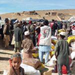 Afghans receiving aid (undated photo via Afghan News)