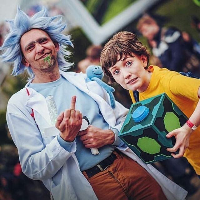 Rick and morty snowball cosplay