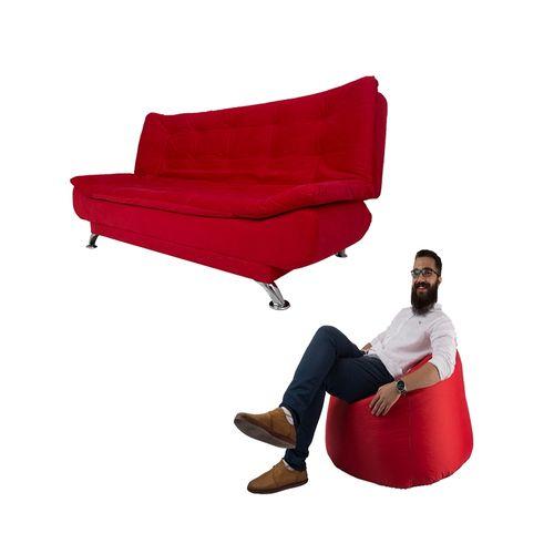 Art Home Sofa Bed Bean Bag Red Via Jumia Egypt