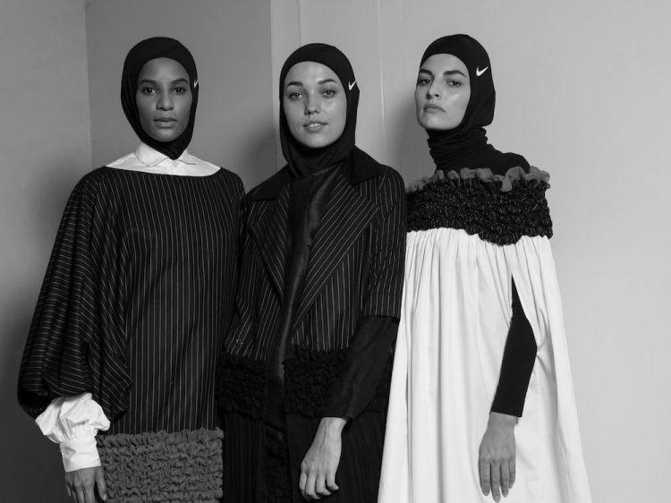 Models backstage at Mashael AlRajhi. Via Vogue Arabia