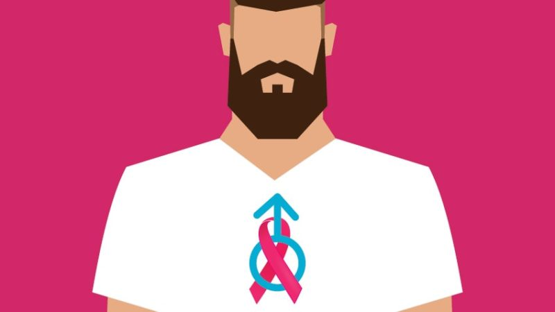 Men could be diagnosed with breast cancer as well