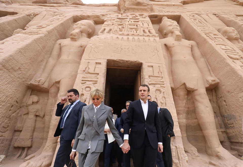 Macron's visit to Abu Simbel in Aswan, Upper Egypt
